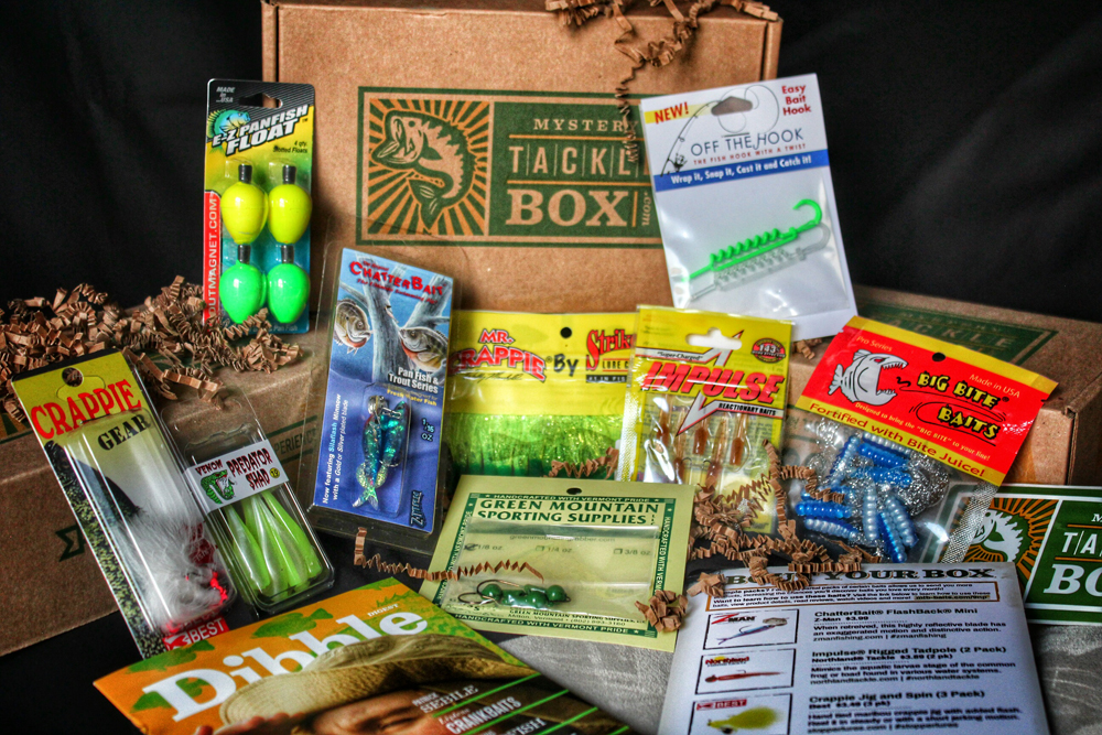 April 2015 mystery tackle box products revealed for Monthly fishing subscription boxes
