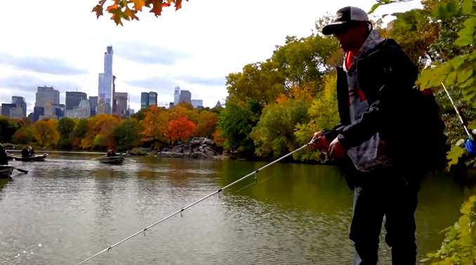 bass fishing central park