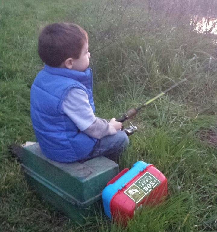 Carp fishing kid