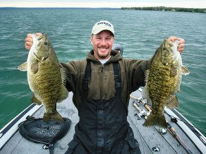summertime smallmouth great lakes fishing
