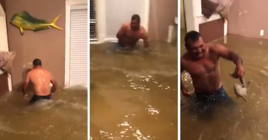Persistent Houston Man Catches Fish In His Living Room