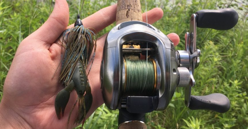 Punch rig 101 how to rig it up properly for Best fishing line for bass baitcaster