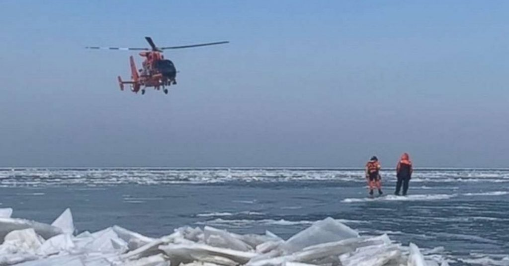46 Anglers Got Stuck On A Floating Chunk Of Ice (Rescued By Coastguard) thumbnail