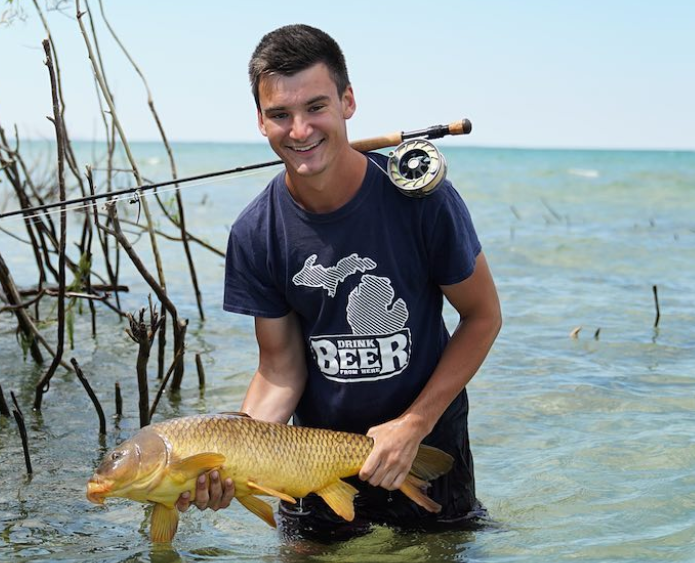 chris bulaw fly fishing for carp